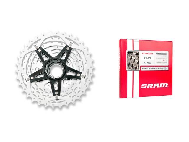 SRAM PG-980 Powerglide II 9 vitesses 11-32 & PC-971 Power Chain